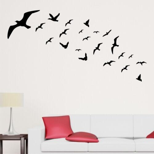 FLOCK OF BIRDS wall sticker animaltransfer bedroom flying animals car stickers