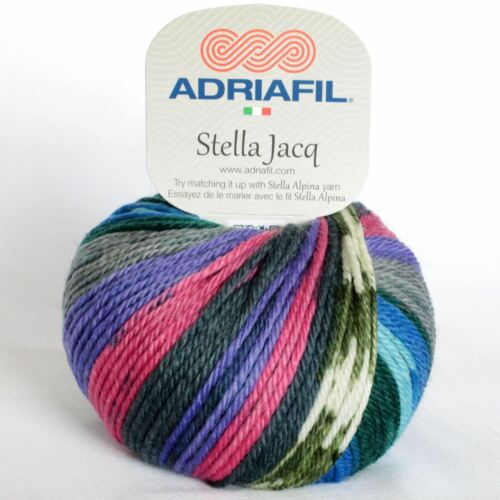"ADRIAFIL Stella Jacq /""decoran Fancy 088/"" Aran Hilo 50g Superwash Merino Lana"