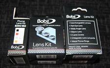 Fish Eye - Wide Angle - Macro Mobile Phone Camera Lens Kit - Silver