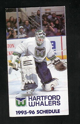 1981-82 Hartford Whalers Tri Fold Pocket Schedule