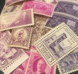 10-MNH-Vintage-Different-3-cent-stamps-from-the-1930-To-1945-SINGLES
