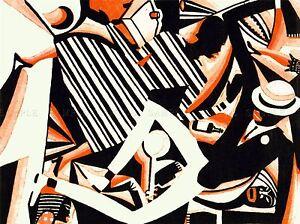 peinture dessin africaine jazz am ricain deux tons reiss impression couleur lv3010 ebay. Black Bedroom Furniture Sets. Home Design Ideas