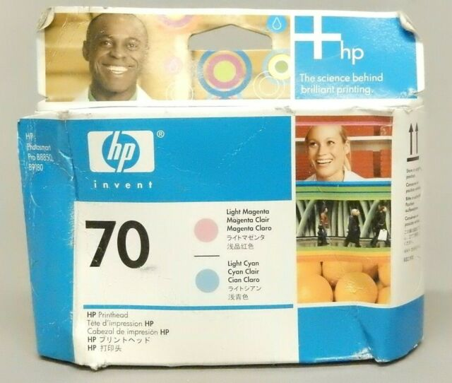 HP 70 Light Cyan & Light Magenta Printhead C9405A Genuine New Sealed Box