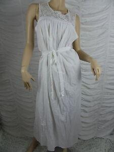 1f91e4772 WITCHERY white 100% cotton lace bodice empire maxi dress size M BNWT ...