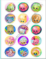 (15) 2 Shopkins Edible Image Premium Cupcake Or Cookie Toppers