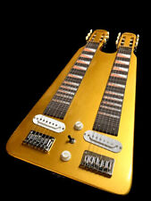 NEW COUNTRY WESTERN  6/6 DOUBLE LAP STEEL SLIDE GOLDEN ELECTRIC GUITAR