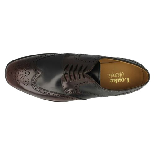 MENS LOAKE LEATHER CLASSIC SMART LACE UP FULL BROGUE SHOES ARLINGTON SIZE