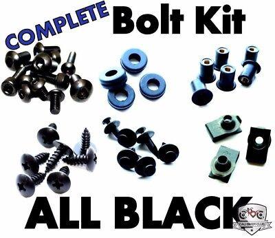 Black Fairing Bolt Kit Screws Fasteners for Suzuki Katana 600//750 1988-1997