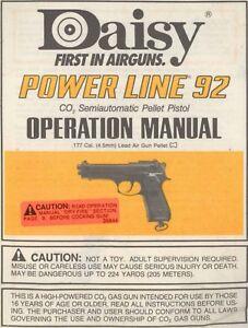 daisy powerline 92 pellet pistol manual ebay rh ebay com Daisy Powerline 1000 Manual Daisy Powerline Slingshot