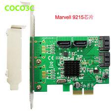Marvell  88SE9215 SATA 6Gb 4 Port PCIe Controller Card PCI express SATA III 3.0