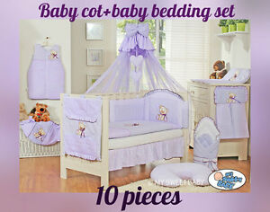 BABY COT BABY BEDDING SET 10 PIECES NEW COLOURS