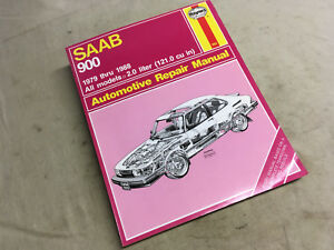 Saab 900 Repair Service Shop Manual 1979–88 Haynes