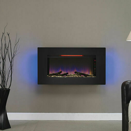 Classicflame Black Elysium Infrared Wall Hanging Fireplace