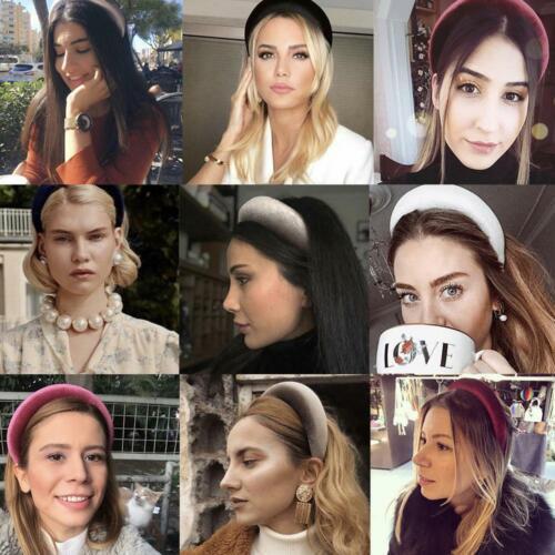 Details about  /New Fashion Thick Sponge Velvet Hairbands Headbands Women Head Bands Headwear