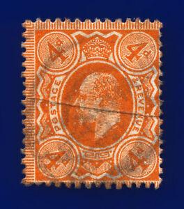 1909-SG241-4d-Orange-Red-M25-3-Good-Used-cvae