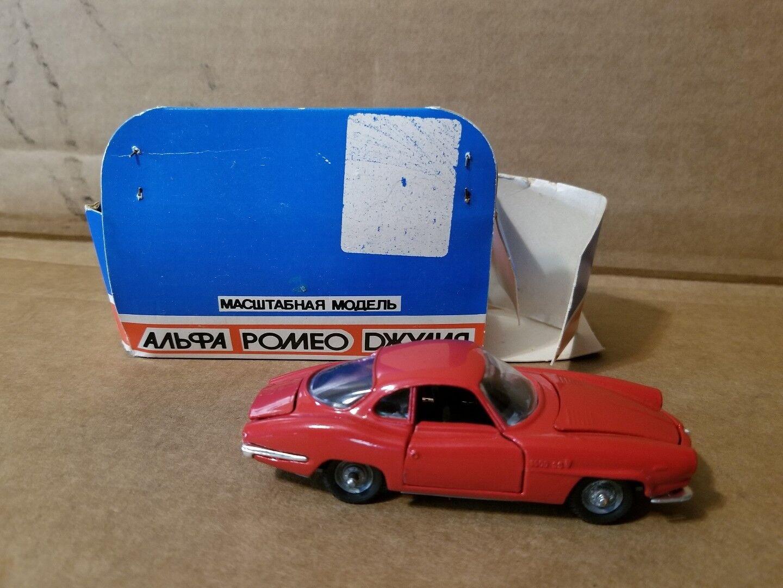 ALFA ROMEO ROMEO ROMEO Giulia SS JC Diecast Made in USSR Red 1 43 Scale with original box d9e526