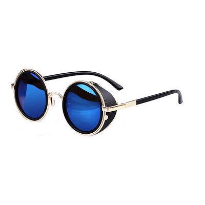 v2015 Cyber Goggles Vintage Retro Blinder Steampunk Sunglasses 50s Round Glasses