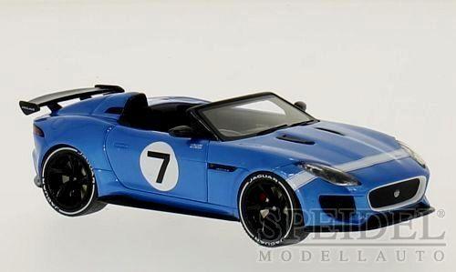 Maravilloso proyecto MODELCAR Jaguar F-Tipo 7 2015-blu - 1 43 - Ed. Lim.