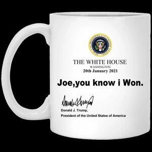 Joe You Know I Won Trump Voted Funny Mug Joebiden Personalised Magic Mug Color