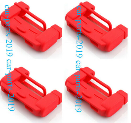4PCS Red Door Seat Safety Belt Buckle Cap Cover For Jeep Wrangler JL 2018 2019