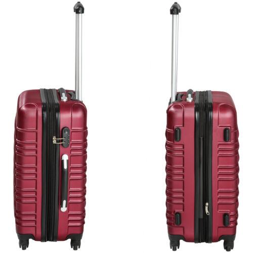 Set de 4 valises de voyage coque ABS léger rigide bagages valise trolley