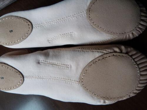 New unworn split sole leather//canvas ballet shoes.