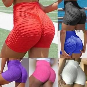 Womens High Waist Yoga Camo Shorts Gym Sports Fitness Booty Push Up Hot Pants