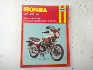 new honda s owners workshop manual cbx 550 four 572 5cc 1982 1984 rh ebay com cbx 550 workshop manual Honda CBX