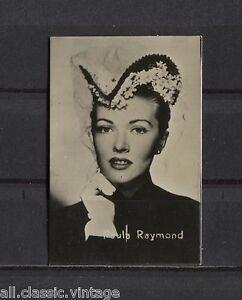 Paula-Raymond-Vintage-Movie-Film-Star-Trading-Photo-Card-Excellent-Condition