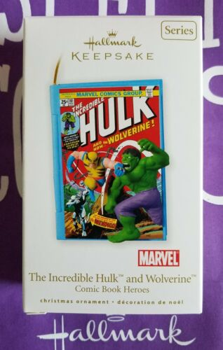 HALLMARK 2010 INCREDIBLE HULK AND WOLVERINE HEROS MIB