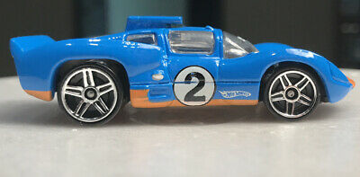 2007 Hot Wheels Mystery Car Chaparral {BLUE AND ORANGE RACE CAR} LOOSE!!!