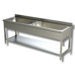 Fregadero-de-160x70x85-430-de-acero-inoxidable-sobre-piernas-estanteria-restaura