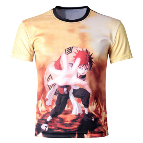 Naruto Gaara Anime Manga Cosplay 3D T-Shirt Polyester Neu