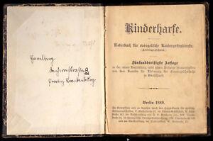 Kinderharfe-Liederbuch-fuer-evangelische-Kindergottesdienste-1889