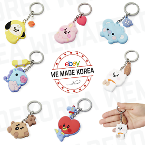 BT21 Baby Character Silicone Keyring Keychain 7types Official K-POP Authentic MD