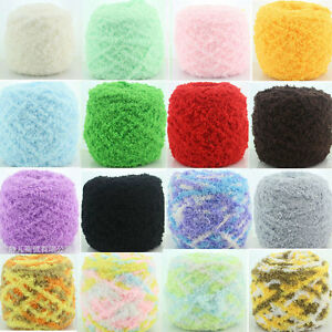 e45180c3f5c7 100g Skein Super Soft Knitting Chunky Hand-knitted Baby Wool Yarn ...
