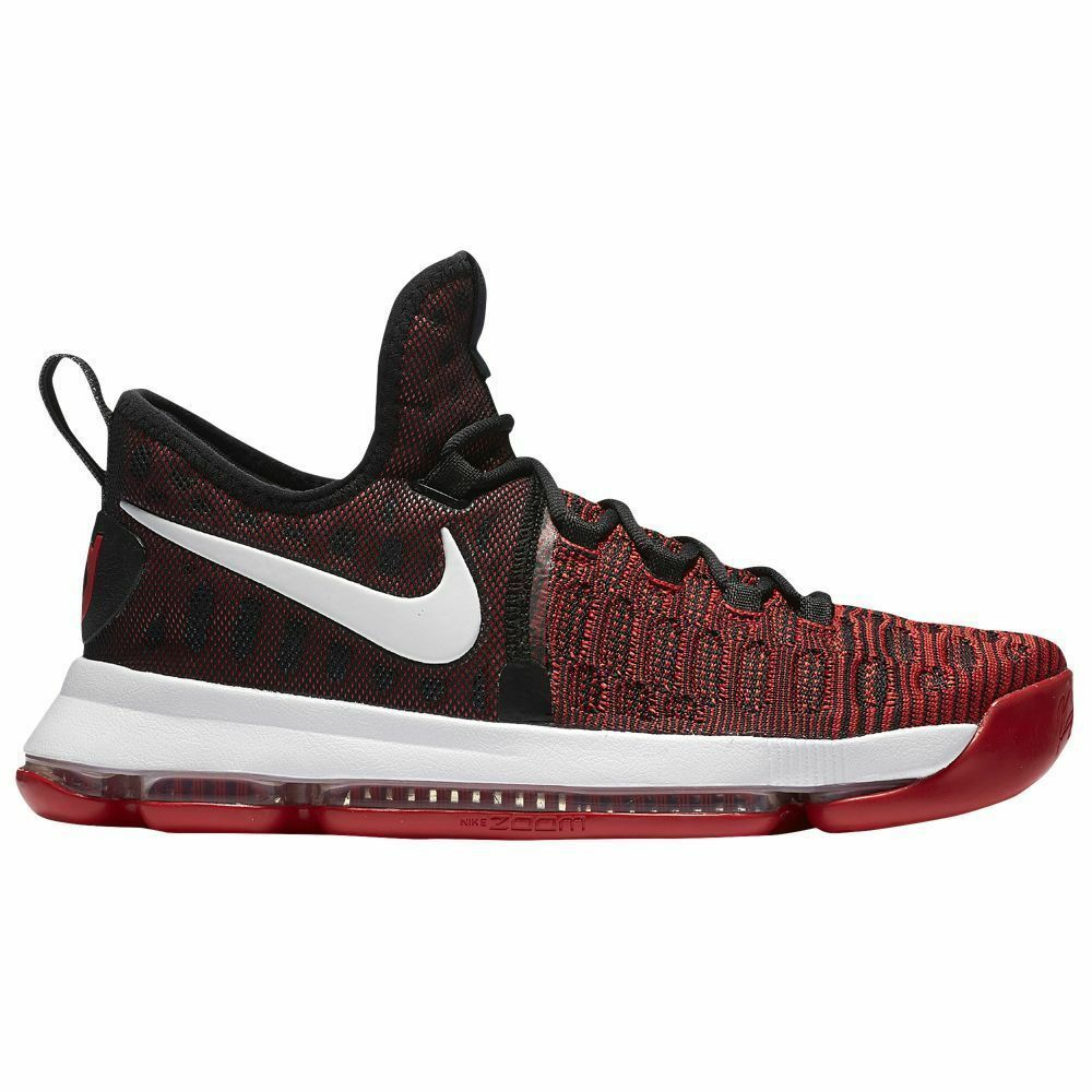 Nike Zoom KD 9 Flyknit Men's 11 University Red White Black 843392 610 150 NEW