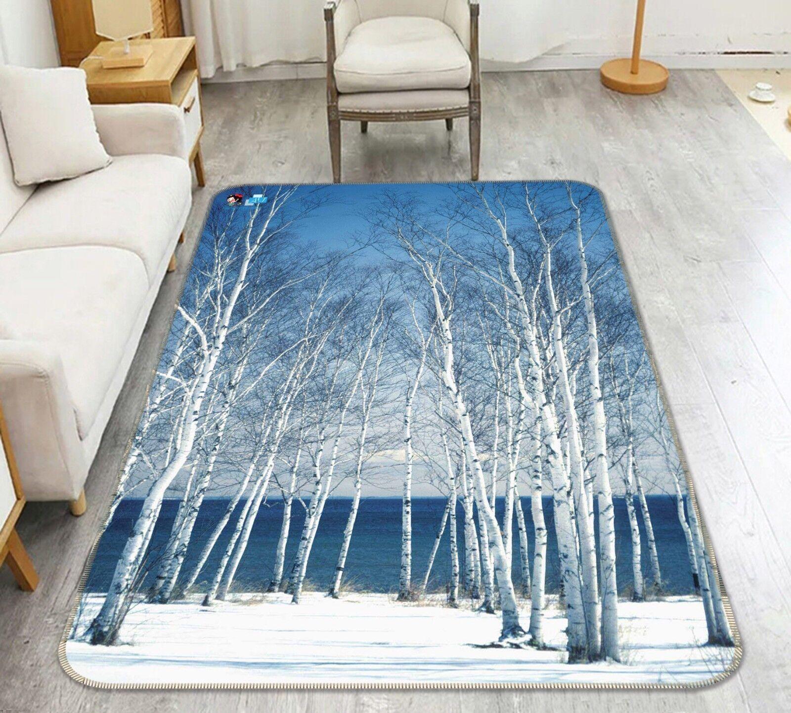 3d mar árboles 16 antideslizante alfombra de maletero calidad elegante alfombra de