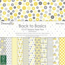 "Dovecraft Back to Basics Baby Steps - Card Craft Paper Pad 12x12"" (150gsm)"