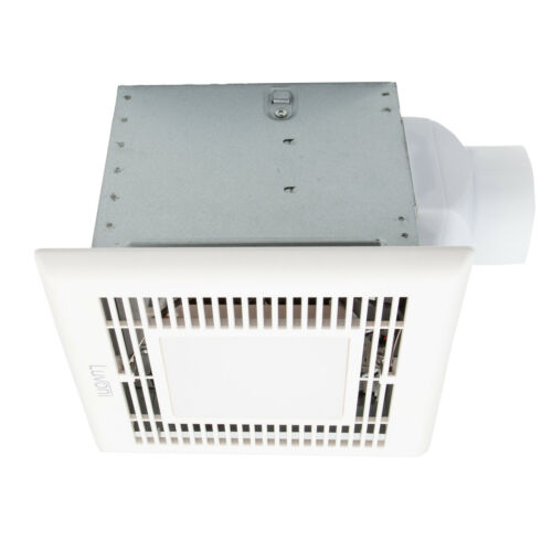 2 Sones Fan by Maxxima Luvoni 70 CFM Bathroom Exhaust and Vent Fan with Light