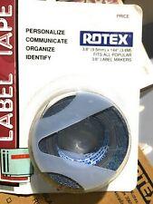 Rotex 38 Manual Embossed Label Maker Tape Total 288 2 Pak Woodgrain