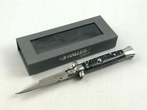 Haller-Select-Springmesser-Taschenmesser-Messer-Black-Mamba-G-10-Klassiker