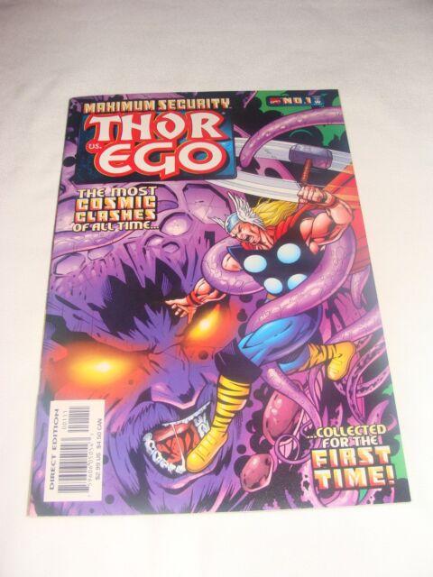 Maximum Security Thor vs. Ego #1 (Nov 2000) Reprints Thor 132 1st EGO Appearance