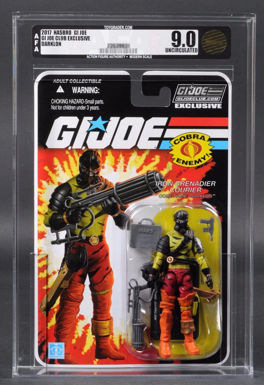 2017 GI Joe Iron Grenadier Darklon AFA U9.0 Club Exclusive Subscription FSS 5.0