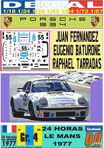 DECAL PORSCHE 934 JUAN FERNANDEZ LE MANS 1977 01