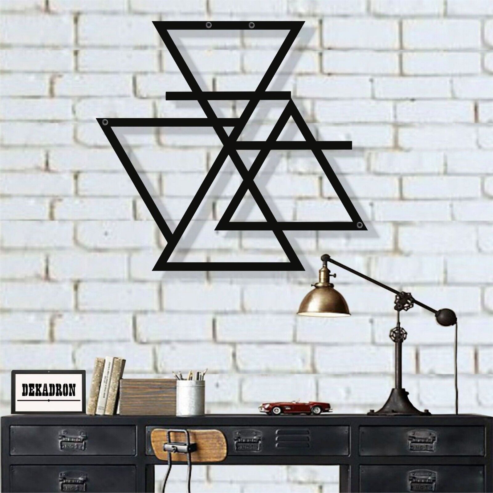 Metal Wall Art, Four Elements Symbol, Metal Wall Decor, Interior Decoration