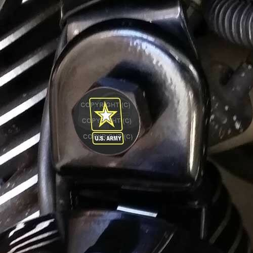 Black Billet Horn Cover Mounting Nut Kit For Harley GHOST NAUTICAL STAR H105