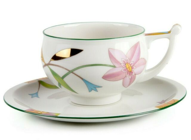 Laurentia Teacup And Saucer By Imperial Porcelain Russian Lomonosov China Lfz Ebay