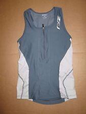 Womens 2XU tank top with built n sports bra S Sm running workout tennis gym