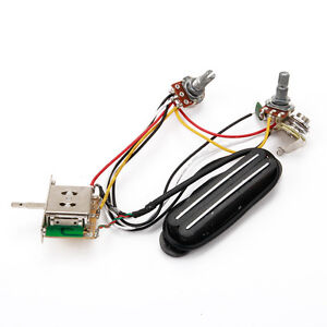 electric guitar pickup wiring harness with volume tone pots and 3image is loading electric guitar pickup wiring harness with volume tone